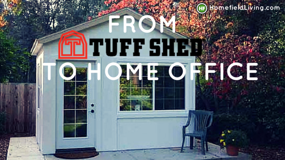 his Tuff Shed building and made it into a truly special home office ...