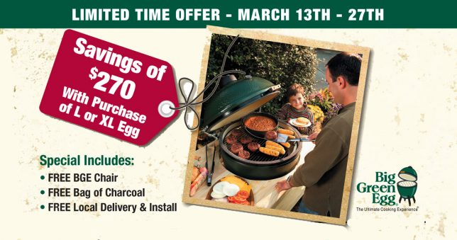 Big Green Egg Savings