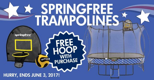 Springfree Trampoline Memorial Day Deals