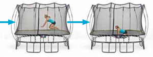 Springfree Trampoline Exercise Front Hands and Knees Drop