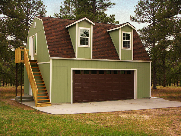 Customize your tuff shed with different door options for Garage with living quarters above
